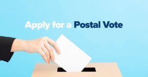 Postal vote application form