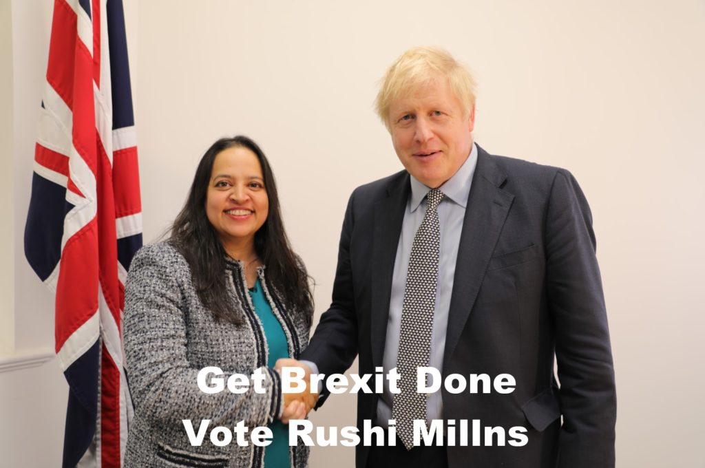 Get Brexit Done - Vote Rushi Millns